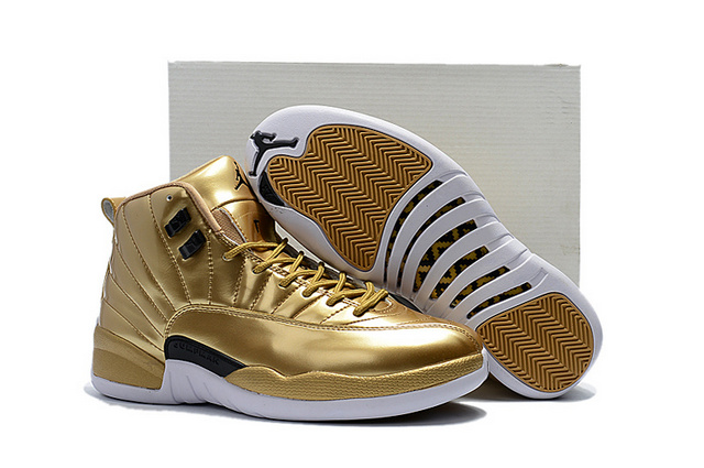Discount Air Jordan 12 Pinnacle Metallic Gold SKU 129224